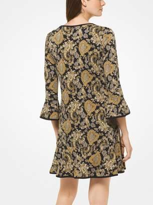 MICHAEL Michael Kors Paisley Matte-Jersey Flounce Dress