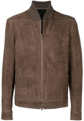 Salvatore Santoro slim-fit leather jacket