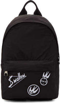 McQ Black Swallow Badge Classic Backpack