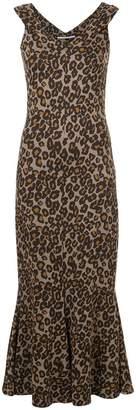Rosetta Getty fitted leopard print dress