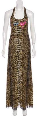 Jean Paul Gaultier Animal Print Maxi Dress