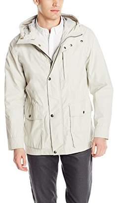 Cole Haan Men's Washed Lightweight Hooded Jacket
