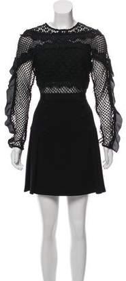 Self-Portrait Lace-Accented Mini Dress w/ Tags