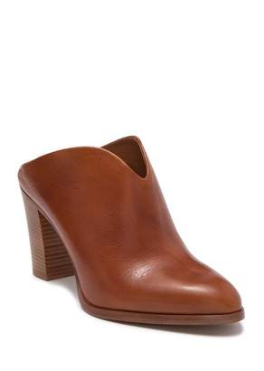 Frye June Leather Block Heel Mule