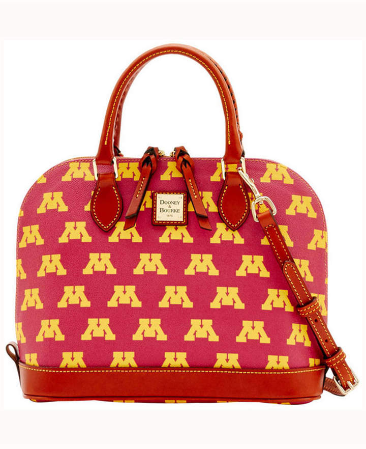 Dooney & Bourke Minnesota Golden Gophers Zip-Zip Satchel - GOLD - STYLE