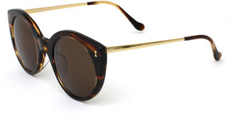 Illesteva Palm Beach Mirrored Cat-Eye Sunglasses, White Tortoise $240 thestylecure.com