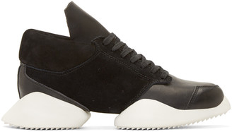 Rick Owens Black & White Island Sole adidas by Rick Owens Sneakers $790 thestylecure.com