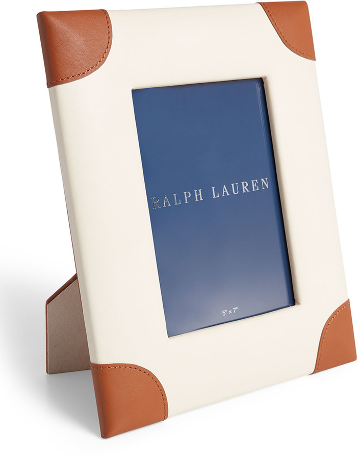 Ralph Lauren Home Ryan Leather Picture Frame, 5
