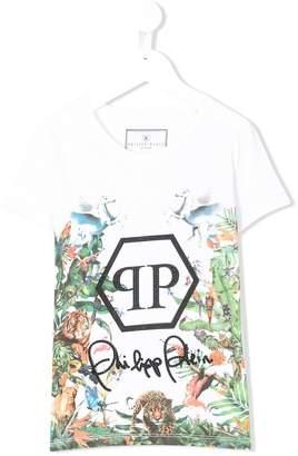 Philipp Plein Junior mixed print T-shirt