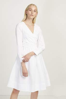 French Connection Eastside Cotton V Neck Flared Dress