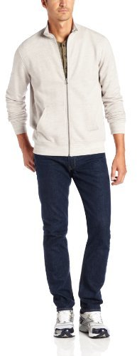 Geoffrey Beene Men's Space-Dyed French Terry Track Jacket