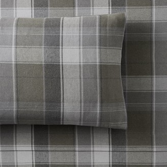 Pottery Barn Teen Aspen Organic Plaid Flannel Sheet Set