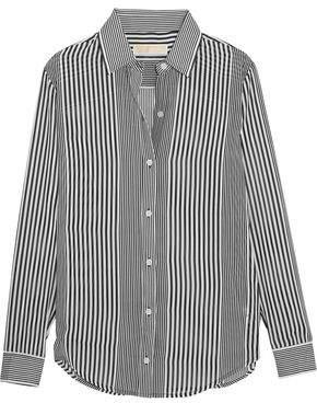 MICHAEL Michael Kors Corsican Striped Chiffon Shirt