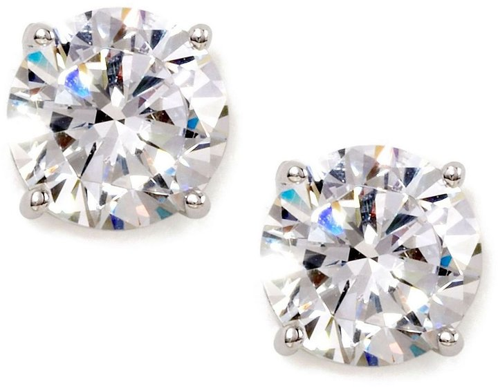 Nadri Large Cubic Zirconia Stud Earrings