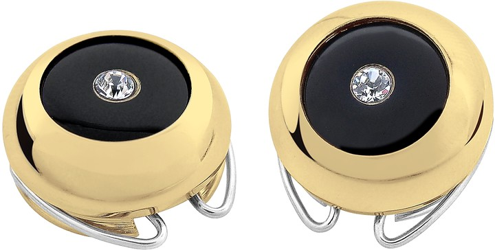 Forzieri Gold-Plated Crystal Button Covers