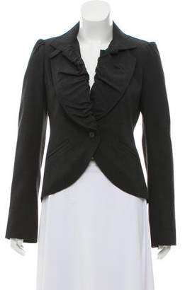 Patrizia Pepe Wool High-Low Blazer