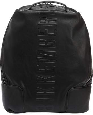 Bikkembergs Small Army Faux Leather Backpack