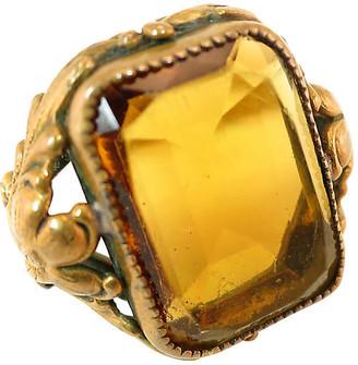 One Kings Lane Vintage Edwardian Czech Floral Ring - Neil Zevnik