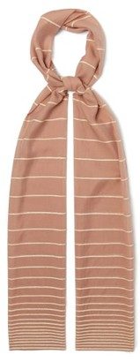 Max Mara Striped Voile Scarf - Womens - Pink