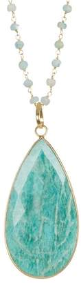 Forever Creations USA Inc. 18K Gold Vermeil Crysophase Teardrop Pendant Necklace
