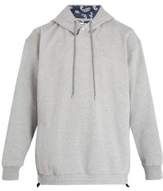 Wooyoungmi Paisley-print lined cotton hooded sweater
