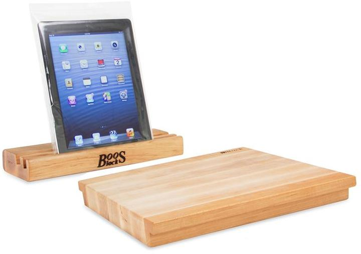 John Boos 2-pc. Tablet Stand and Cutting Board Set, Maple