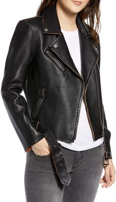 Vigoss Faux Leather Vintage Moto Jacket