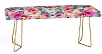 Deny Designs Marta B. Camarasa Geometric Floral Bench