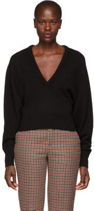 Chloé Black Cashmere V-Neck Sweater