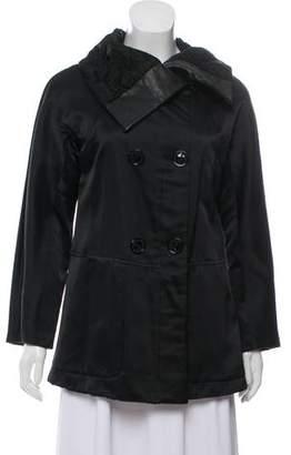 Giorgio Armani Silk Leather-Accented Jacket
