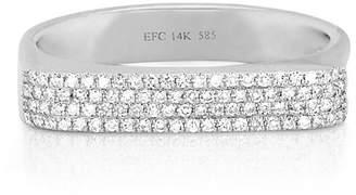 Ef Collection 14K Gold Jumbo Bar Ring with Diamonds