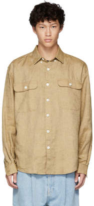 Schnaydermans Brown Linen Oversized Shirt