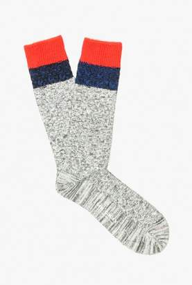 Melange Cable Knit Sock