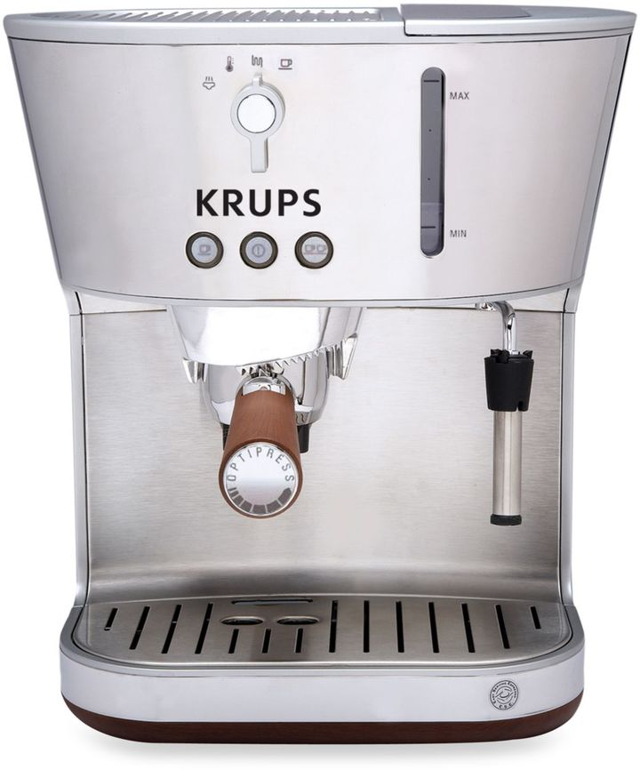 Krups Silver Art Collection Espresso Machine with Precise Tamp