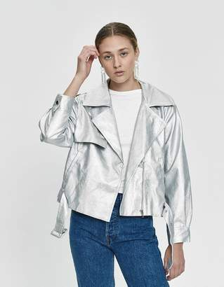Stelen Iyla Faux Leather Metallic Jacket