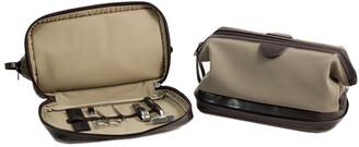 Bey-Berk Toiletry Bag With 6 Piece Grooming Set