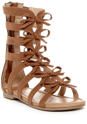 Report Caryn Bow Gladiator Sandal (Little Kid & Big Kid) $50 thestylecure.com