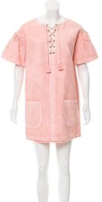 Ulla Johnson Denim Lace-Up Dress