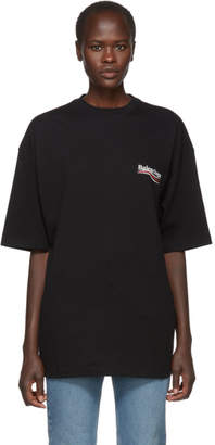 Balenciaga Black Campaign Logo T-Shirt