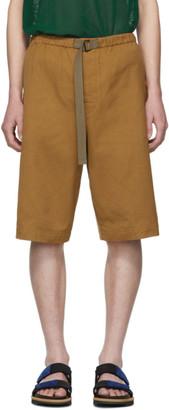 Dries Van Noten Tan Piene Shorts