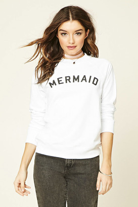 FOREVER 21+ Mermaid Graphic Sweatshirt $17.90 thestylecure.com