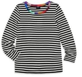 Splendid Girl's x Margherita Missoni Contrast-Neckband Striped Top