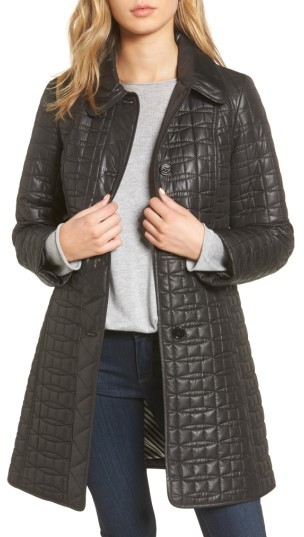 Women's Kate Spade New York Water Resistant Quilted Coat