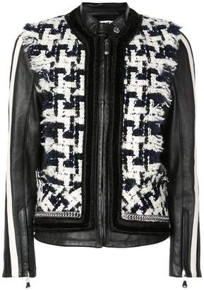 Alexander Wang contrast panels biker jacket