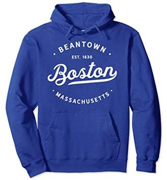 Classic Vintage Retro Boston Massachusetts Pullover Hoodie