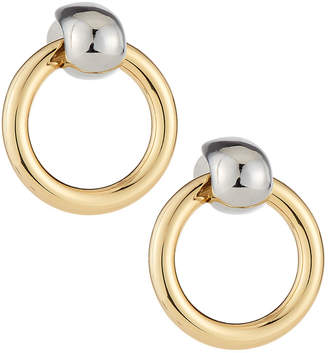 Kenneth Jay Lane 2-Tone Little Circle Drop Earrings