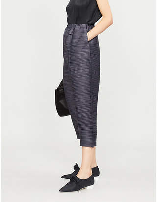 Pleats Please Issey Miyake Thicker Bounce wide-leg pleated trousers