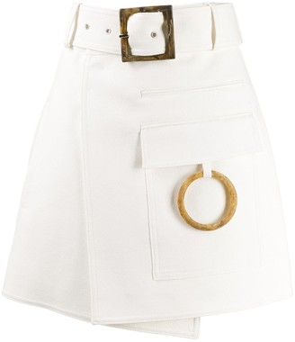 Acler hoop detailed A-line skirt