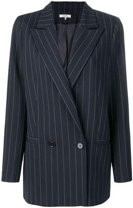Ganni pinstriped formal blazer