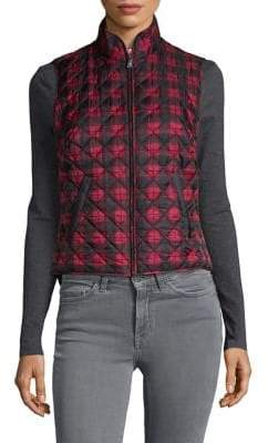 Karen Scott Petite Plaid Quilted Vest
